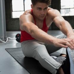 Męskie zwężane spodnie