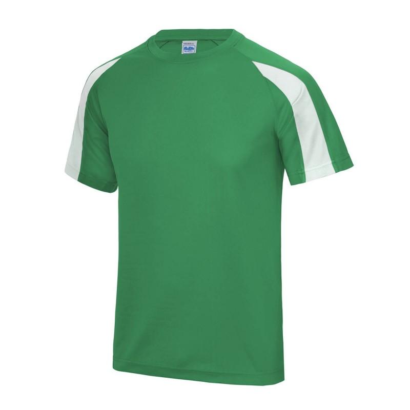 Koszulka neoteric cool contrast męska S green/white
