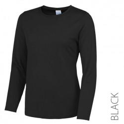 Koszulka termoaktywna damska z długim rękawem czarna XL