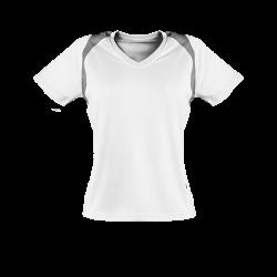 Oddychający damski T-shirt do biegania biała S