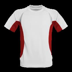 Oddychający męski T-shirt do biegania biało/czerwona L