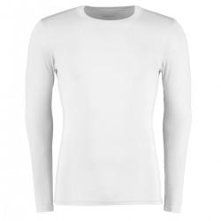 Dopasowana koszulka z długim rękawem biała XL